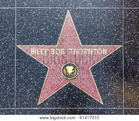 Billy Bob Thorntons Star On Hollywood Walk Of Fame
