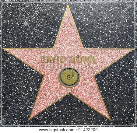 David Bowies Star On Hollywood Walk Of Fame