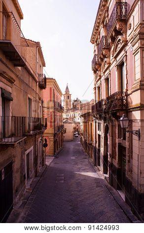 View Of Agira Street, Sicily