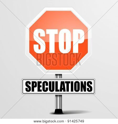 detailed illustration of a red stop Speculations sign, eps10 vector