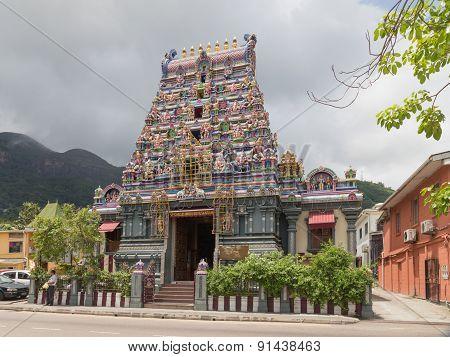Beautiful Hindu Temple Attraction Seychelles
