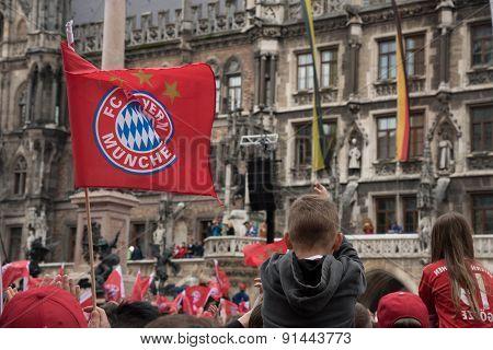 FC Bayern celebration for winning Bundesliga title