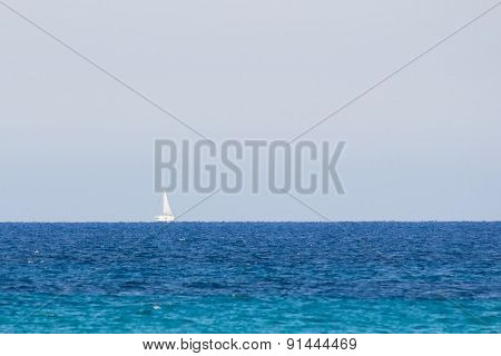 Mirage Of A Boat Lifted Over The Sea