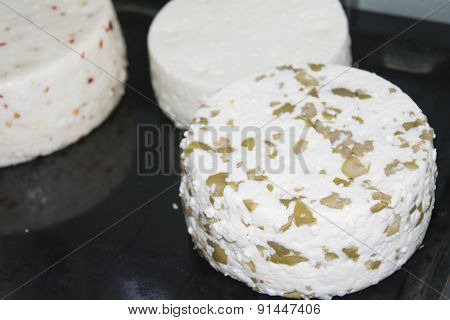 Shapes Of Spiced  Cheeses