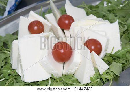 Slices Of Handmade Pecorino
