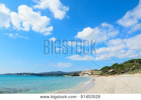 White Clouds Over Le Bombarde Beach