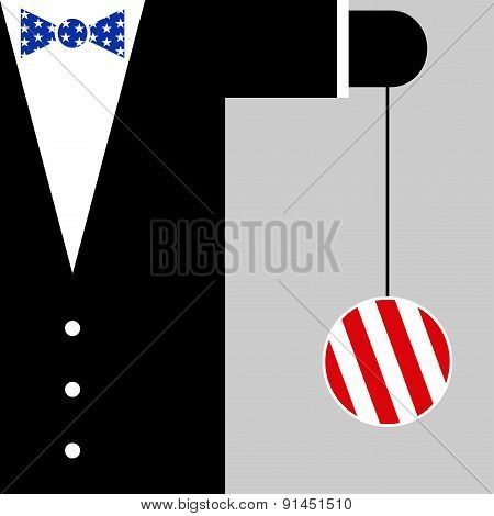 Suit With The Symbols Of Usa Flag