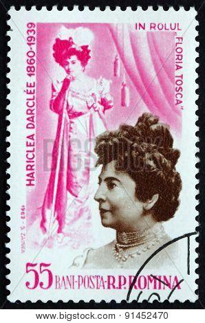 Postage Stamp Romania 1964 Hariclea Darclee, Operatic Soprano