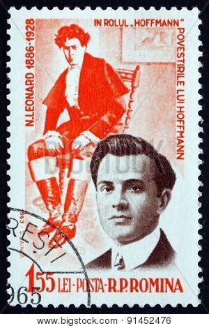 Postage Stamp Romania 1964 Nicolae Leonard, Operatic Tenor