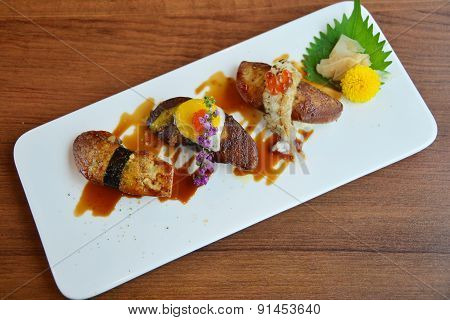 Foie Gras Sushi Japanese Food Style