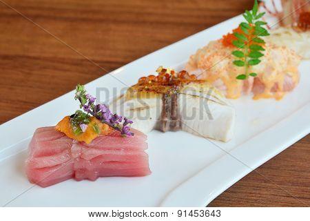 Sushi Set Japanese Food Style