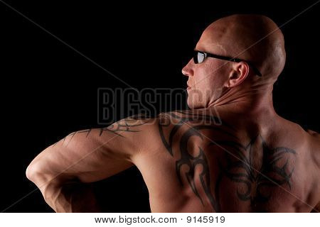 Fit Male Model With Tattoos