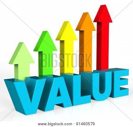 Increase Value Means Up Worth And Valuable