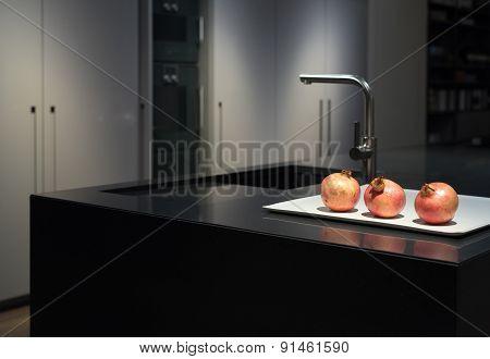 Black Granite Kitchen
