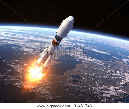 Heavy Carrier Rocket Launch