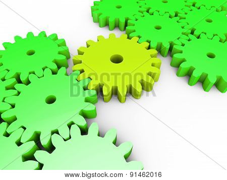 Connection Interconnected Shows Work Together And Cogwheel