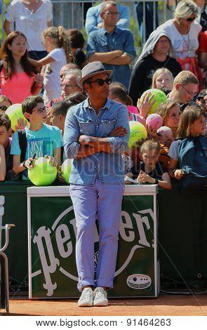 1983 French Open champion Yannick Noah at Roland Garros 2015 in Paris