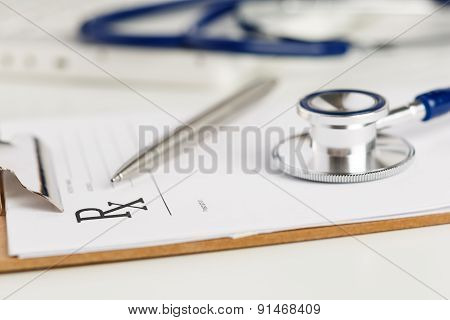 Empty Medical Form Ready To Be Used.