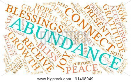 Abundance Word Cloud