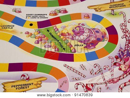 Candy Land Game Board