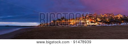 Beach Las Americas in Tenerife island - Canary Spain
