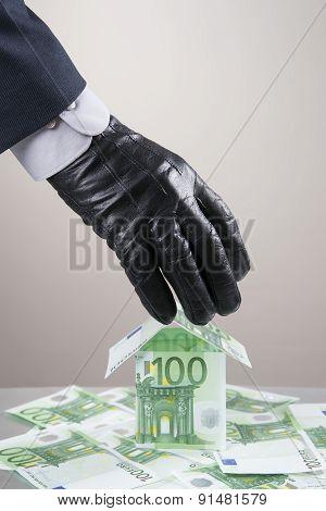 Concept - Corruption, Theft
