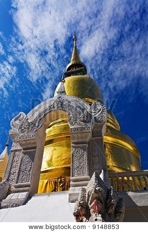 Beautiful Buddhist stupa in Thai style