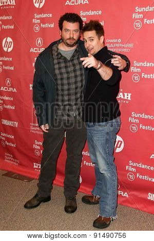 PARK CITY, UT-JAN 28: Actors Danny McBride (L) and Sam Rockwell attend the
