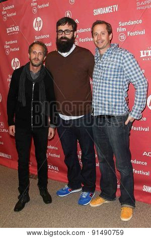 PARK CITY, UT-JAN 28: (L-R) Producer Brandt Andersen, director Jared Hess and Dave Hunter attend the