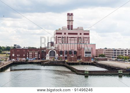 Electric Power Plant On Boston River