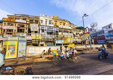 Rickshaw Rider Transports People