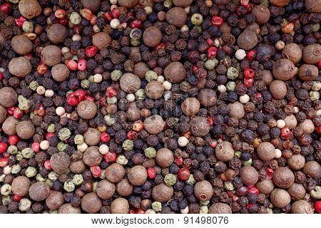 Mixed Peppercorns Background