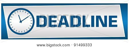 Deadline Blue Grey Block Horizontal