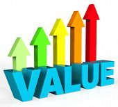 Increase Value Representing Valued Advance And Importance poster