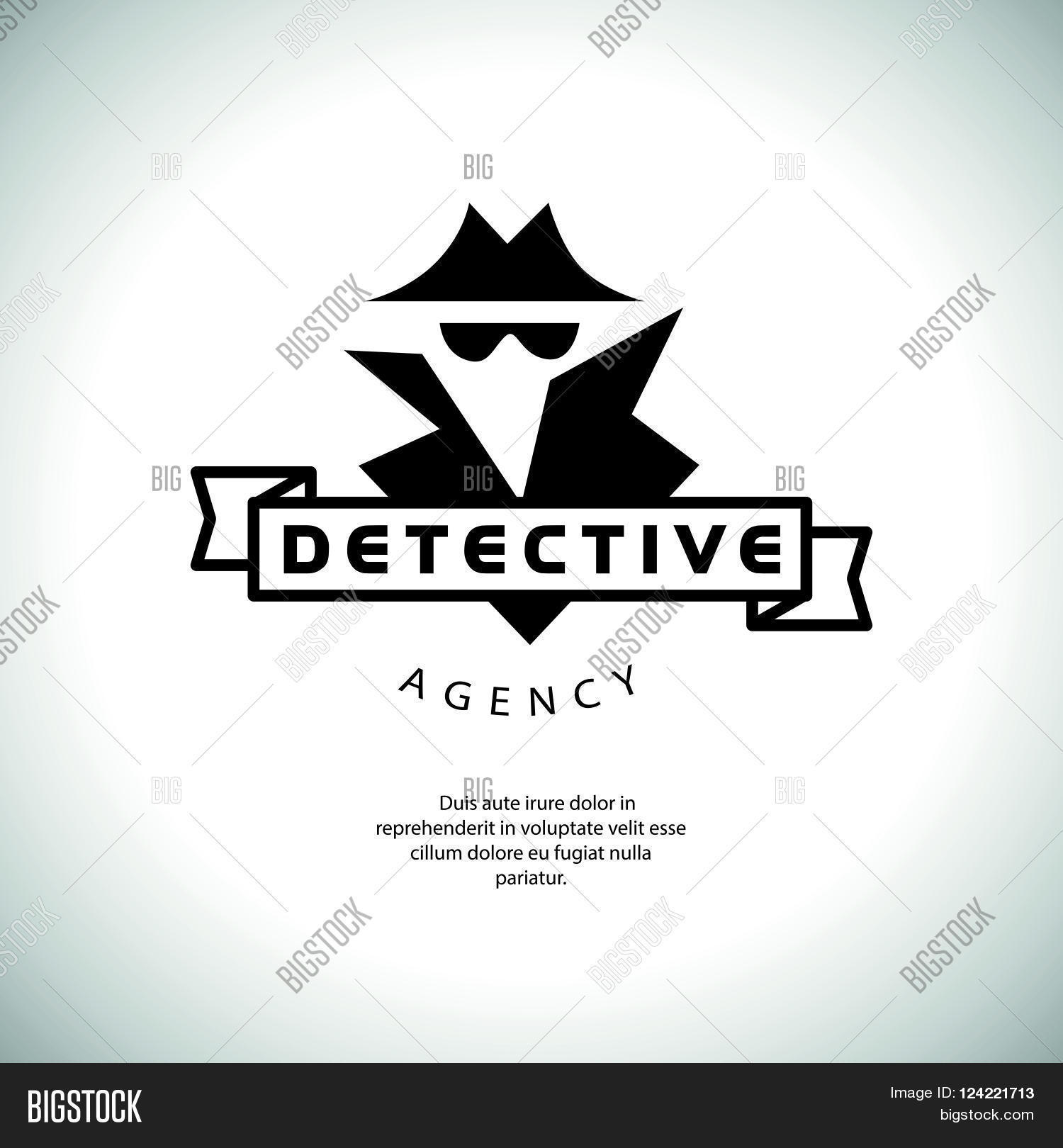 Flat Detective Agency Vector & Photo (Free Trial) | Bigstock