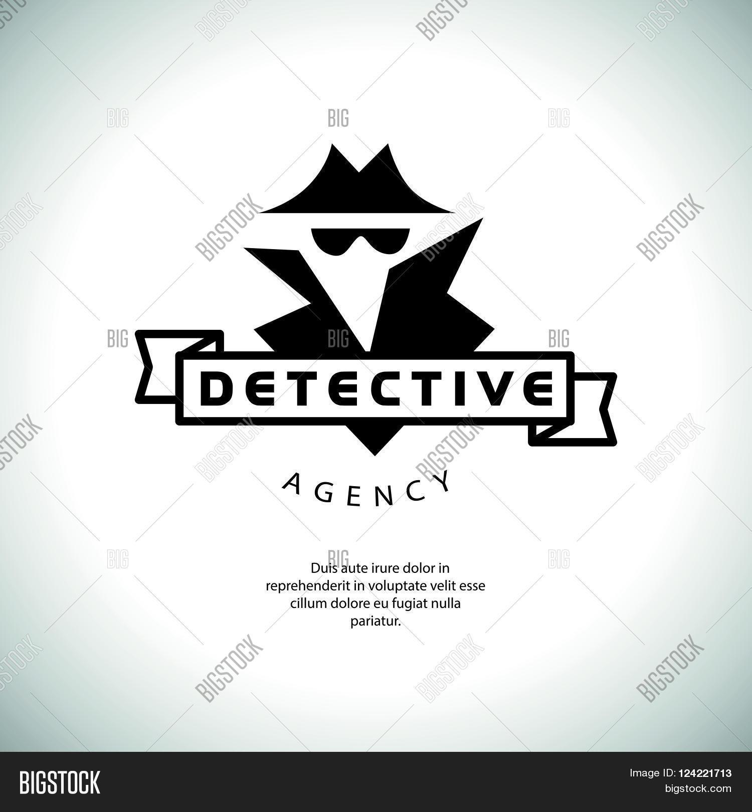 Flat Detective Agency Logo Design Vector & Photo | Bigstock