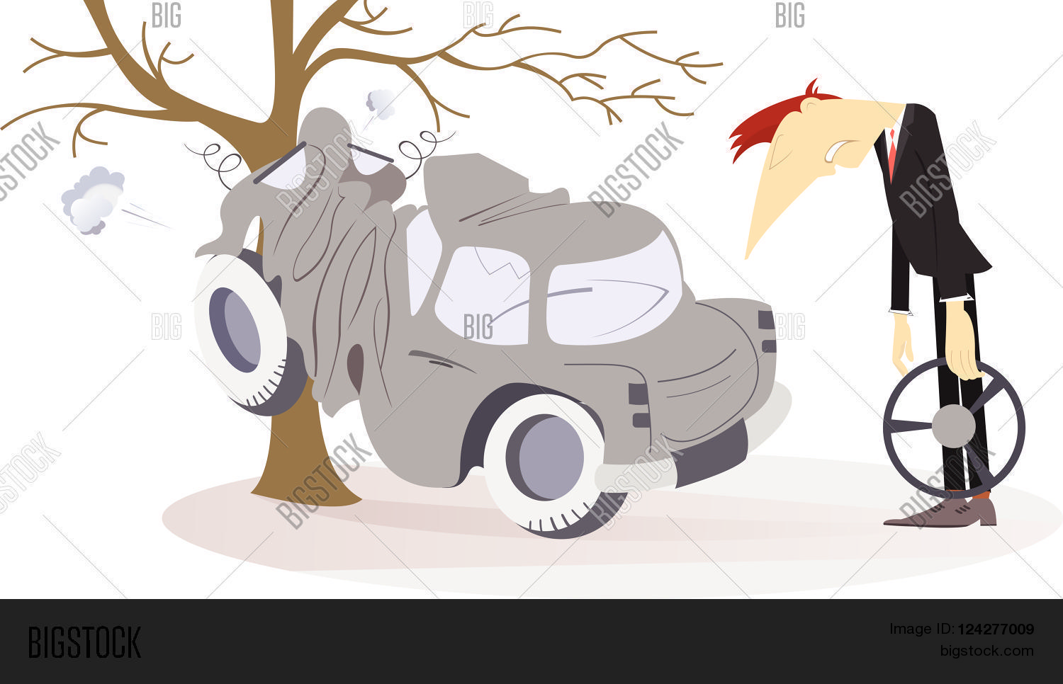 Road Accident. Upset Vector & Photo (Free Trial) | Bigstock