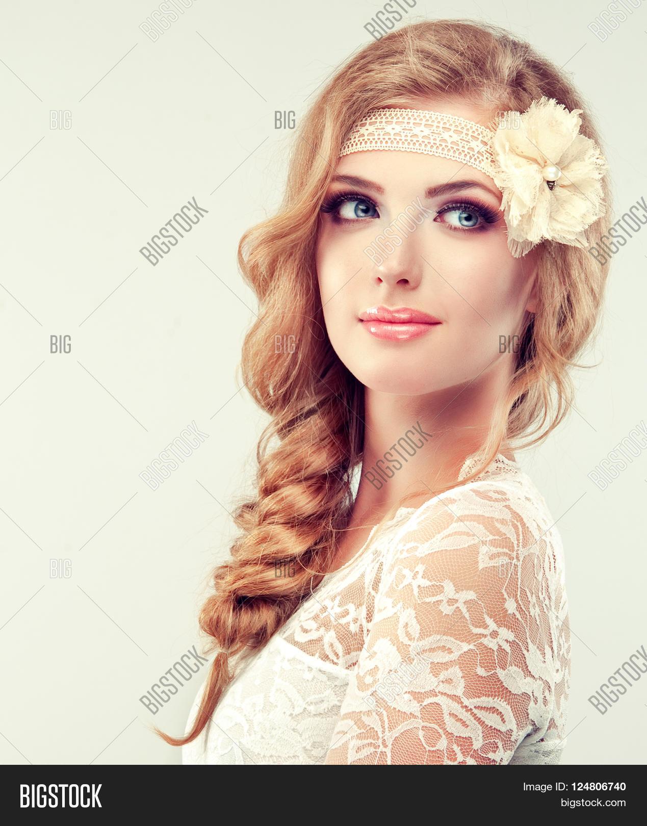 Beautiful Model Lace Image Photo Free Trial Bigstock