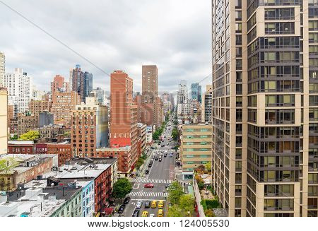 Manhattan cityscape from the Roosevelt Island Tramway