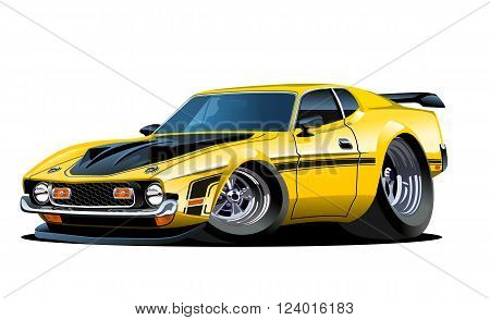 Vector cartoon retro car. Available EPS-10 separated by groups and layers with transparency effects for one-click repaint