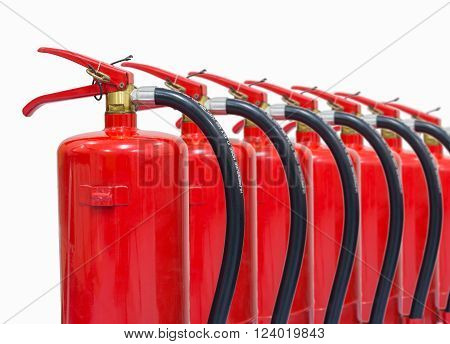 Fire extinguishers tank isolated on white background.