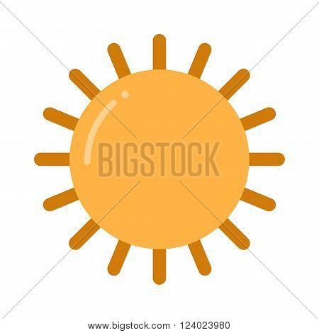 sun icon isolated on white background. Sun isolated, Sun summer icon design. yellow sun symbol. sun sun element.