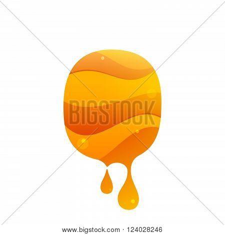 O Letter Logo. Honey Style.