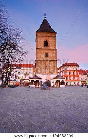 KOSICE, SLOVAKIA - MARCH 19, 2016: Urban's Tower in the main square of Kosice city in eastern Slovakia on March 19, 2016.