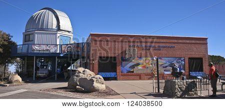 TUCSON, ARIZONA, FEBRUARY 28. Kitt Peak National Observatory on February 28, 2016, near Tucson, Arizona. The Kitt Peak National Observatory Visitor Center and Museum near Tucson Arizona.