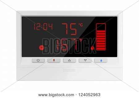 Solar water heater controller isolated on white background, 3d illustration
