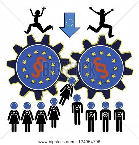 People of the European Union fear to get leveled down through far too many laws and regulations