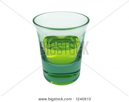 Absinth In A Small Glass