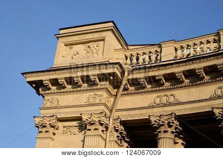 Fragment of Kazan Cathedral in Petersburg Russia.