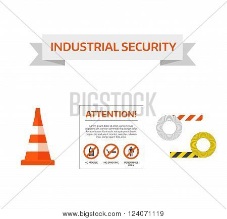 Vector safety first road under construction sign collection. Safety sign danger symbol and safety sign risk security. Construction traffic attention safety sign